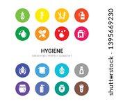 16 hygiene vector icons set... | Shutterstock .eps vector #1395669230