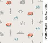 london city theme kid seamless... | Shutterstock .eps vector #1395670289