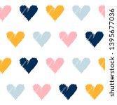 abstract handmade seamless... | Shutterstock . vector #1395677036