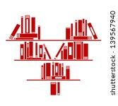 Heart Shaped Book Shelf With...