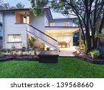 stylish australian home at dusk | Shutterstock . vector #139568660