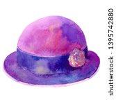 women's hat with a flower... | Shutterstock . vector #1395742880