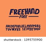 freehand font style set in... | Shutterstock .eps vector #1395755900