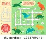 vector dinosaur crossword.... | Shutterstock .eps vector #1395759146