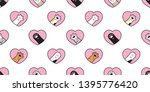 cat paw seamless pattern vector ... | Shutterstock .eps vector #1395776420