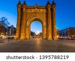 triumph arch  arc de triomf  of ...   Shutterstock . vector #1395788219