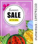 summer sale vector template... | Shutterstock .eps vector #1395792110