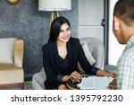 asian professional woman giving ... | Shutterstock . vector #1395792230