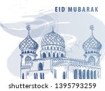 """eid mubarak"" background design ...   Shutterstock .eps vector #1395793259"