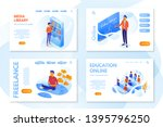 online education website page... | Shutterstock .eps vector #1395796250
