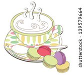cup of tea or coffee with... | Shutterstock .eps vector #139579664