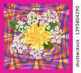 square flower arrangement.... | Shutterstock .eps vector #1395804290