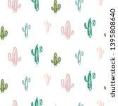 hand drawn cactus modern...   Shutterstock .eps vector #1395808640