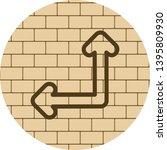 double direction arrow icon...