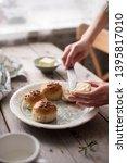 homemade buns for breakfast...   Shutterstock . vector #1395817010