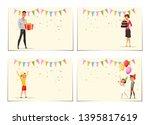 birthday celebration web banner ... | Shutterstock .eps vector #1395817619