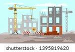 building construction flat... | Shutterstock .eps vector #1395819620