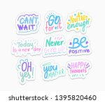 optimistic phrases vector... | Shutterstock .eps vector #1395820460