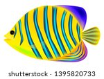 angel butterfly fish  three...   Shutterstock .eps vector #1395820733