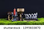 royal crown and treasure chest | Shutterstock . vector #1395833870