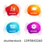 liquid badges. set of fireworks ... | Shutterstock .eps vector #1395843260