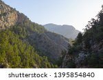 mountain canyon landscape at... | Shutterstock . vector #1395854840