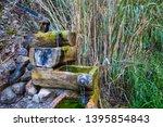 closeup source of river  small... | Shutterstock . vector #1395854843