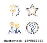 star  ab testing and idea icons ...