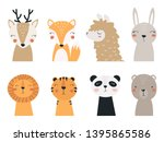 set of forest and exotic... | Shutterstock .eps vector #1395865586