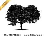 tree silhouettes on white... | Shutterstock .eps vector #1395867296