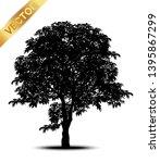 tree silhouettes on white... | Shutterstock .eps vector #1395867299