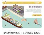 sea logistic and maritime... | Shutterstock .eps vector #1395871223