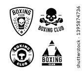 boxing club labels emblems... | Shutterstock .eps vector #1395874736