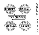 certified stamps set. original... | Shutterstock .eps vector #1395874760