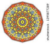 mandala flower decoration  hand ... | Shutterstock .eps vector #1395877289