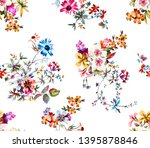 seamless colored flowers for... | Shutterstock . vector #1395878846