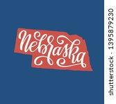 nebraska. hand drawn usa state... | Shutterstock .eps vector #1395879230
