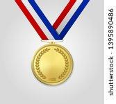 vector 3d realistic gold award... | Shutterstock .eps vector #1395890486