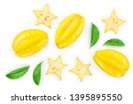 Carambola Or Star Fruit With...