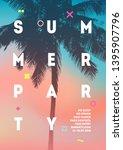 summer party flyer  brochure... | Shutterstock .eps vector #1395907796