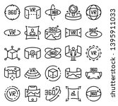 360 degrees icons set. outline... | Shutterstock .eps vector #1395911033
