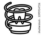 dental floss icon. outline... | Shutterstock .eps vector #1395914726