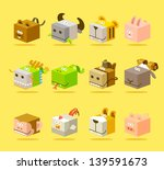 chinese zodiac icon set | Shutterstock .eps vector #139591673
