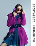 beautiful spectacular long... | Shutterstock . vector #1395918296