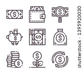 dollar simple strock icon....