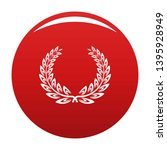certified wreath icon. simple... | Shutterstock .eps vector #1395928949