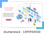 customer support concept.... | Shutterstock .eps vector #1395934520