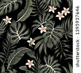 tropical vintage plumeria... | Shutterstock .eps vector #1395937646