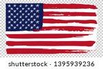 national american flag ... | Shutterstock .eps vector #1395939236