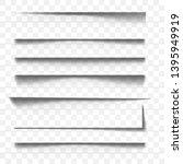 page divider. line paper design ... | Shutterstock .eps vector #1395949919